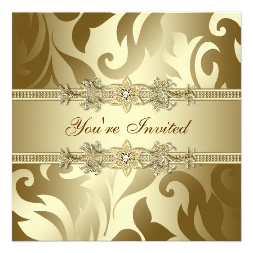 Gold Corporate Christmas Party Personalized Invitations