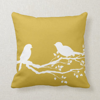 Gold Country Silhouette Throw Pillow