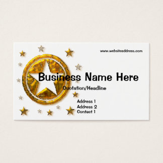 Gold Country Western Stars Design Business Card
