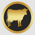 GOLD COW CLASSIC ROUND STICKER