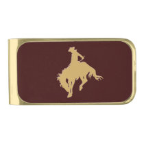 Gold Cowboy Bucking Horse Gold Finish Money Clip