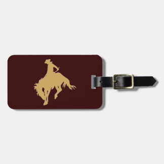 Gold Cowboy Bucking Horse Tag For Luggage