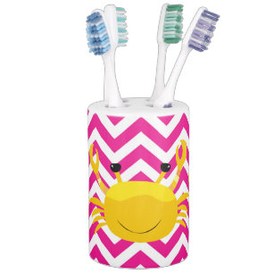 chevron bathroom set. Gold Crabs on Hot Pink Chevron Bathroom Set Bath Accessory Sets  Zazzle