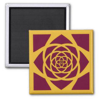 Gold Cranberry Mandala Magnet