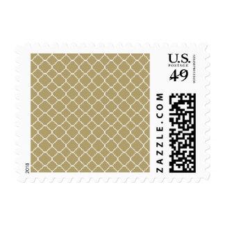 Gold Cream and White Quatrefoil Stamp
