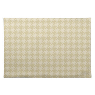 Gold Cream Houndstooth Cloth Place Mat
