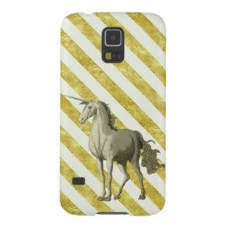 Gold & Cream Vintage Unicorn Samsung S5 Case