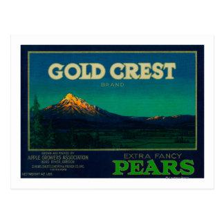 Gold Crest Pear Crate LabelHood River, OR Postcard