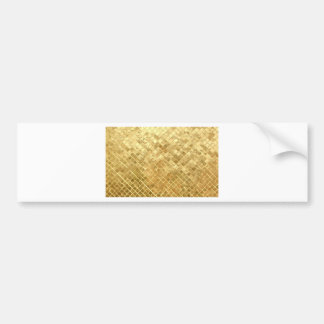 GOLD CRISS CROSS PATTERN CAR BUMPER STICKER