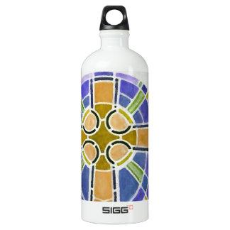 gold cross aluminum water bottle