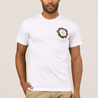 Gold Cross and Crown of Thorns T-Shirt