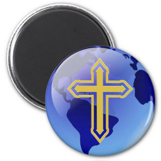 Gold Cross and Earth Magnet