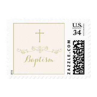 Gold Cross and Laurels Postage