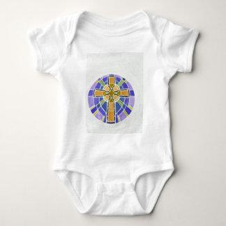 gold cross baby bodysuit