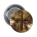 Gold Cross Button