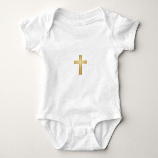 Gold Cross/Easter Baby Bodysuit