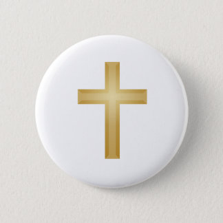 Gold Cross/Easter Button