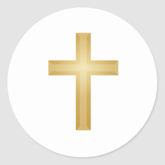 Gold Cross/Easter Classic Round Sticker
