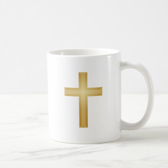 Gold Cross/Easter Coffee Mug