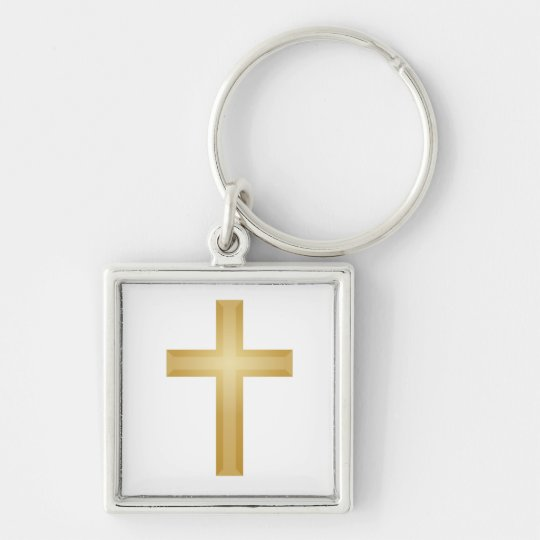 Gold Cross/Easter Keychain