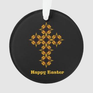 Gold Cross Fractal Happy Easter