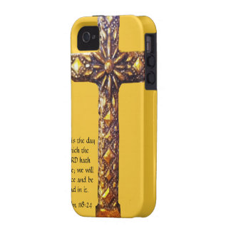 Gold Cross Inspirational Psalms iPhone 4/4S Cover
