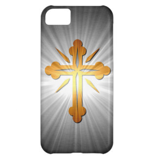 Gold Cross On Sun Rays iPhone 5C Cover