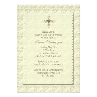 """Gold Cross Religious Invitation 5"""" X 7"""" Invitation Card"""