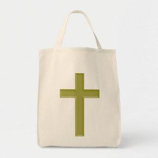 Gold Cross Tote Bag