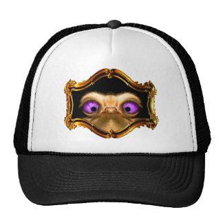 Gold Crossed Ostrich Trucker Hats