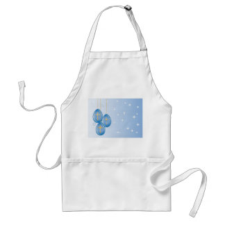 Gold crosses on blue eggs on a blue with stars adult apron