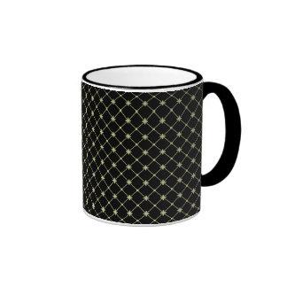 Gold Crosses Pattern Template Ringer Coffee Mug