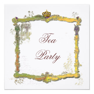Gold Crown and Fancy Frame Arc de Triomphe Card