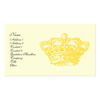 Gold Crown Double-Sided Standard Business Cards (Pack Of 100)
