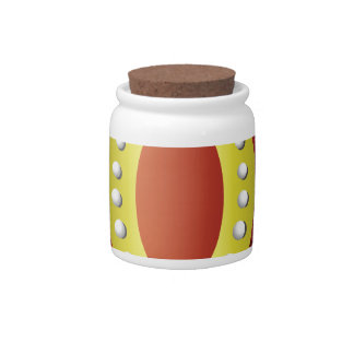 gold crown candy jar