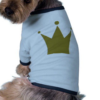 Gold crown dog clothing