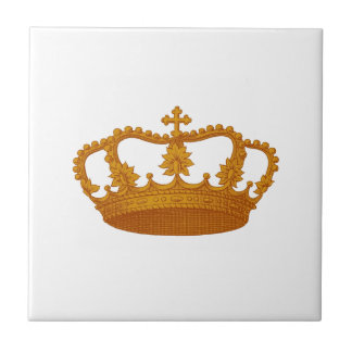 GOLD Crown Gift Item Template You Personalize Ceramic Tile