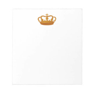 GOLD Crown Gift Item Template You Personalize Notepad