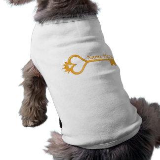 Gold Crown Heart Key Dog Shirt