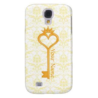 Gold Crown Heart Key Samsung Galaxy S4 Case