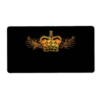 Gold Crown Label Shipping Label