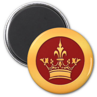 Gold Crown Refrigerator Magnets
