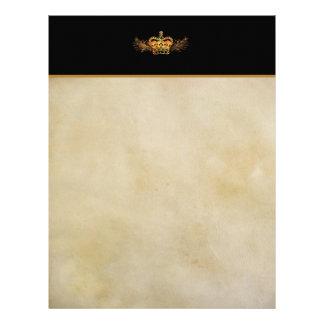 Gold Crown Parchment-look Letterhead