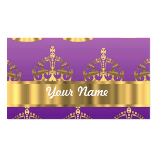 Gold crown pattern Double-Sided standard business cards (Pack of 100)