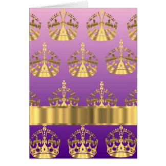 Gold crown pattern card