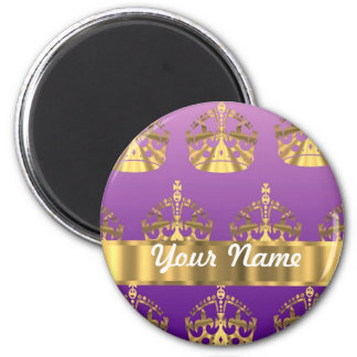 Gold crown pattern magnet