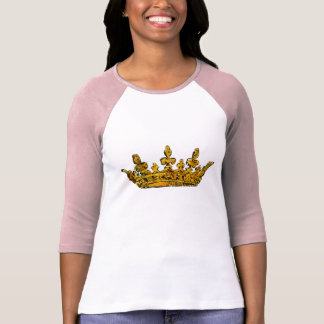 Gold Crown Princess with Your Name Shirt
