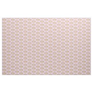 Gold Crown Tiara fabric pattern light pink backgrd