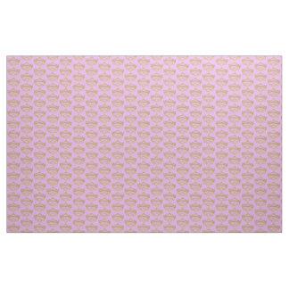 Gold Crown Tiara fabric pattern lilac pink backgrd