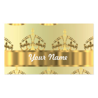 Gold crowns Double-Sided standard business cards (Pack of 100)